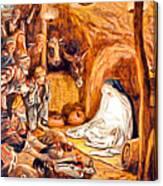 Adoration Of The Shepherds Nativity Canvas Print