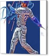 Adrian Gonzalez Los Angeles Dodgers Oil Art Canvas Print