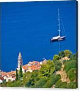 Adriatic Town Of Vis Sailing Destination Waterfront Canvas Print