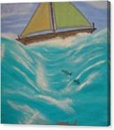 Adrift At Sea Canvas Print