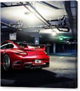 Adv1 Red Porsche 2 Canvas Print