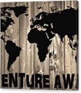 Adventure Awaits Graphic Barn Door Canvas Print