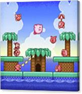 Adventure Kirby Canvas Print