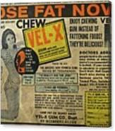 Advertisement Canvas Print