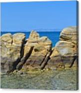 Aegean Rocks Canvas Print