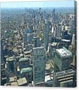 Aerial Abstract Toronto Canvas Print
