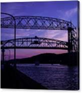 Aerial Lift Bridge At Sundown Canvas Print