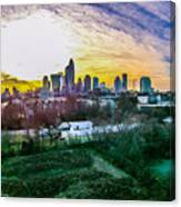 Aerial Of Charlotte North Carolina Skyline Canvas Print