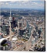 Aerial Of Downtown Toronto Ontario Canvas Print