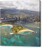 Aerial Of Magic Island Canvas Print