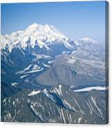 Aerial Of Mount Mckinley Canvas Print