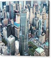 Aerial Of One World Trade Center, New York, Usa Canvas Print
