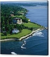 Aerial Of The Breakers, A Mansion Built Canvas Print