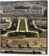 Aerial Photograph Of The Pentagon Canvas Print