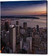Aerial Seattle Westward View Canvas Print