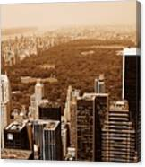 Aerial View Central Park Canvas Print