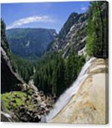 Aerial View From The Top Of The Upper Yosemite Fall Canvas Print
