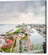 Aerial View Of Famous Havenwelten In Bremerhaven Canvas Print