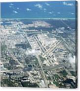 Aerial View Of Fort Lauderdale Airport. Fll Canvas Print