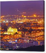 Aerial View Of Palma Of Majorca Canvas Print