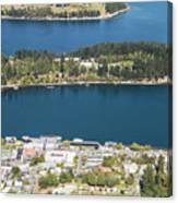 Aerial View Of Queenstown In New Zealand Canvas Print