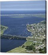 Aerial View Of The Mouth Of Merrimack Canvas Print