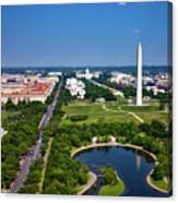 Aerial View Of The National Mall And Washington Monument Canvas Print