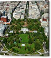 Aerial View Of The White House Canvas Print