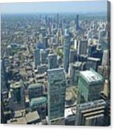 Aerial View Of Toronto Looking North Canvas Print