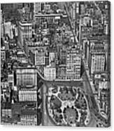 Aerial View Of Union Square Canvas Print