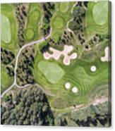 Aerial View Over Golf Field In Poland. Summer Time. Canvas Print