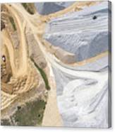 Aerial View Over The Building Materials Processing Factory. Canvas Print