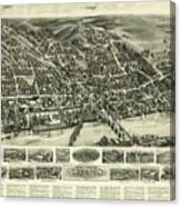 Aero View Of Watertown, Connecticut  Canvas Print
