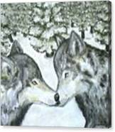 Affection In The Wild Canvas Print