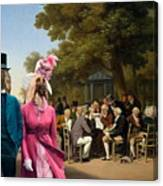Afghan Hound-politicians In The Tuileries Gardens  Canvas Fine Art Print Canvas Print