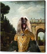 Afghan Hound-the Afternoon Promenade In Rome  Canvas Fine Art Print Canvas Print