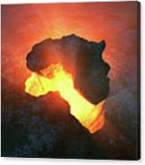 Africa Conceptual Design Canvas Print