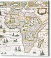 Africa Nova Map Canvas Print