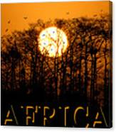 Africa Smart Phone Work A Canvas Print