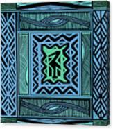 African Blue Bird Canvas Print