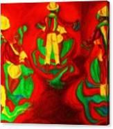African Dancers Canvas Print