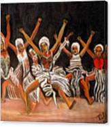 African Dancers Canvas Print