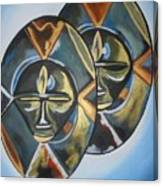 African Double Mask Canvas Print