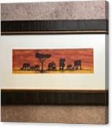 African Elephant Tribal Art Canvas Print