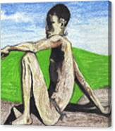 African Hunter Canvas Print