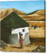 African Hut Canvas Print
