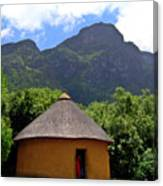 African Hut South Africa Canvas Print