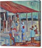 African Market Canvas Print