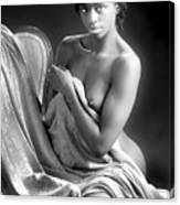 African Nude Kneeling On Chair 1191.01 Canvas Print