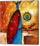 African Queen Original Madart Painting Canvas Print